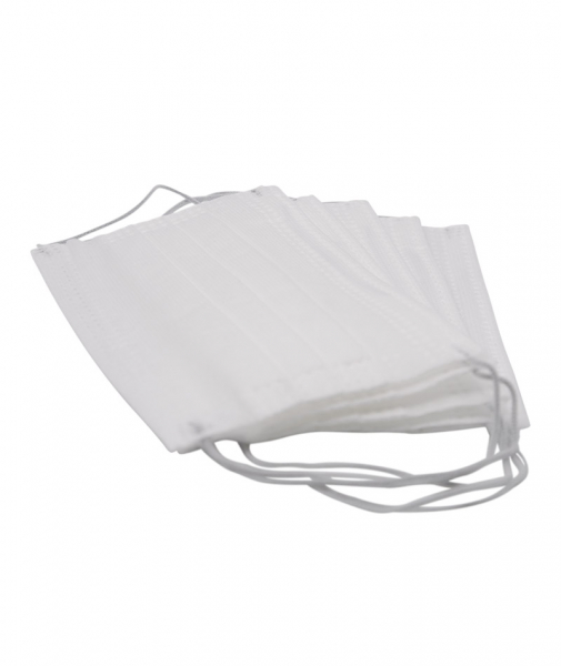Masca de protectie omologata de Ministerul Sanatatii, 3 straturi, 3 pliuri, 50 buc/ set, alb 0