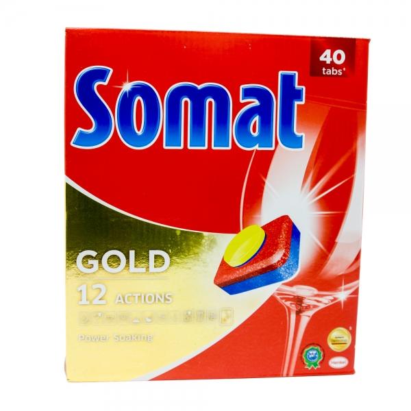 Somat Gold masina de spalat vase, 40 tablete 0