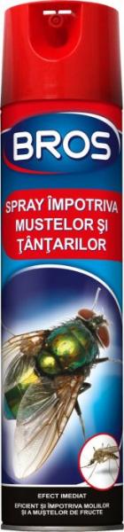 Spray impotriva mustelor si a tantarilor, Bros, 400 ml 0