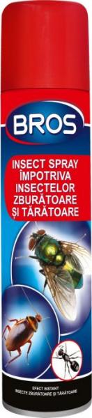 Spray impotriva insectelor zburatoare si taratoare, Bros, 400 ml [0]