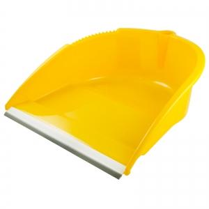 Faras cu lamela de cauciuc si maner inalt, galben2