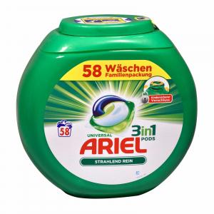 Ariel Detergent capsule 3 in 1 Pods Regular, Family pack , 58 spalari - import Germania0