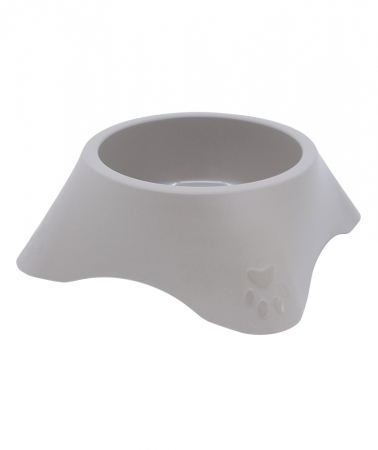 Castron din plastic pentru animale, 700 ml, maro [0]