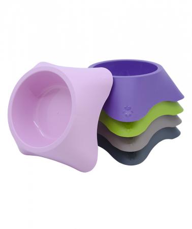 Castron din plastic pentru animale, 700 ml, maro [1]