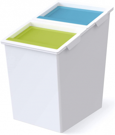 Cos gunoi colectare selectiva cu 2 compartimente, 30 L [0]