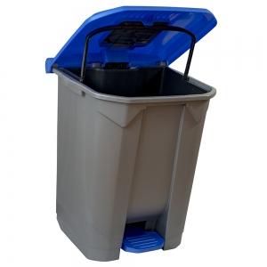 Cos gunoi cu pedala, CEX CUBE, 50 l, albastru2