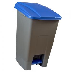 Cos gunoi cu pedala CEX CUBE, 70 l, albastru [0]