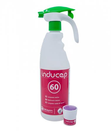 Kit detergent anticalcar ultraconcentrat baie, Inducap 60, 22 ml [0]