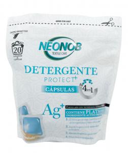 Detergent rufe igienizant cu ioni de argint 4 in 1,capsule, Neonob, 20 spalari