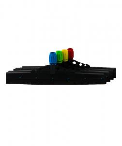 Racleta pardoseala plastic 45 cm, galbena1