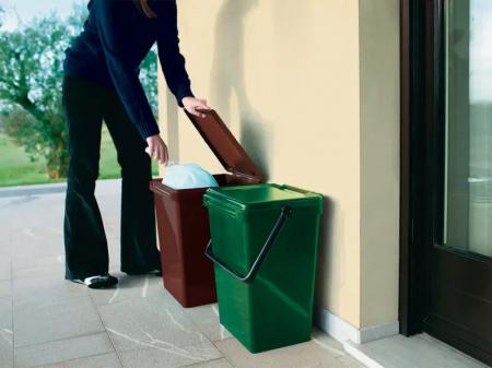 Recipient colectare deseuri biodegradabile, maro, 7 L [2]