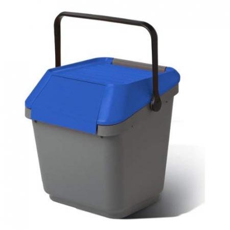 Cos colectare selectiva, suprapozabil, albastru, 35 L [0]