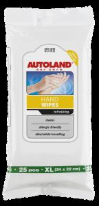 Servetele umede pentru curatarea mainilor, Autoland, 25 buc0