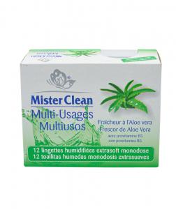 Servetele umede uz universal, Aloe Vera, Mister Clean, 12 buc0