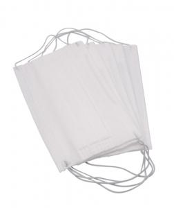 Masca de protectie de unica folosinta, 3 straturi, 3 pliuri, 5 buc/ set, alb0
