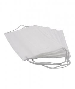 Masca de protectie de unica folosinta, 3 straturi, 3 pliuri, 5 buc/ set, alb1