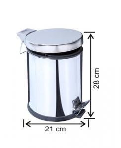 Cos de gunoi cu pedala, inox, 5 L [0]