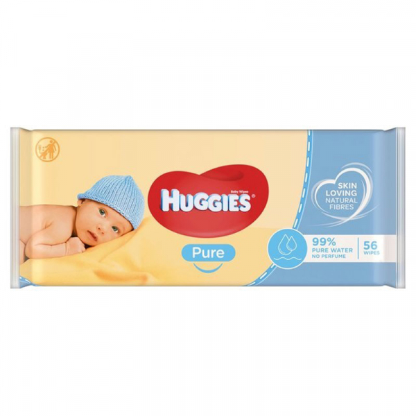Servetele umede Huggies Pure, 56 buc. 0