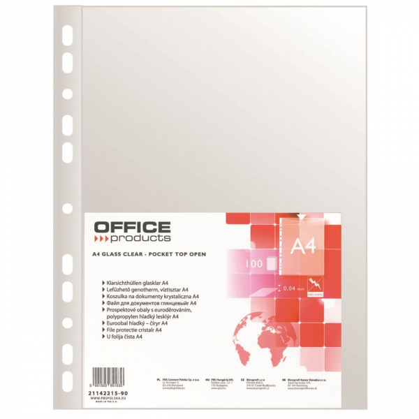 Folie protectie Office Products 0.03mm, 100 buc. 0