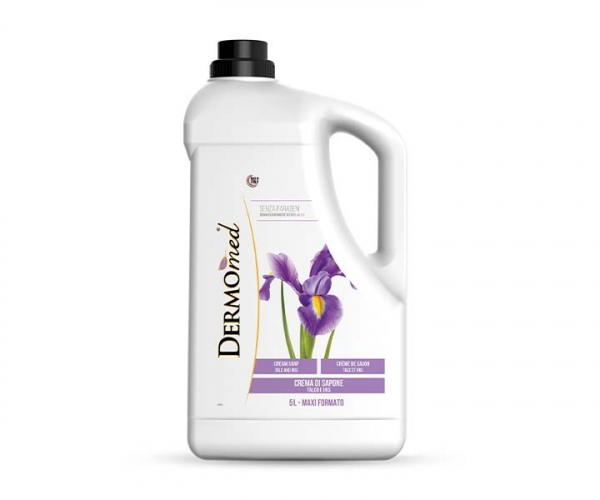 Sapun lichid crema  DERMOmed talc si iris, 5L 0