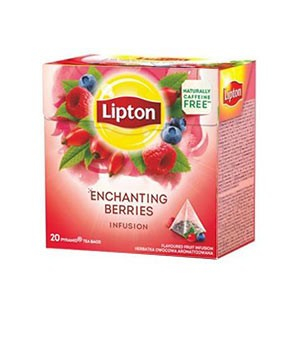 Ceai LIPTON piramidă Enchanting Berries , 20 pliculețe 0