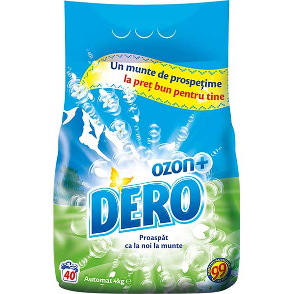 Detergent automat Dero Ozon+ Roua muntelui, 4 Kg 0