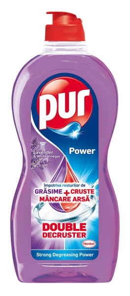Detergent de vase Pur Duo Power Lavandă, 450 ml 0
