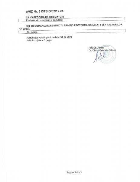 Detergent dezinfectant BIOCID pentru pardoseli Mov - Fabi, 5L, AVIZ Ministerul Sanatatii 3