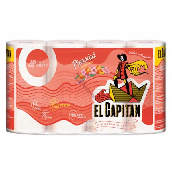 Hartie igienica EL CAPITAN  3 straturi piersica , 8 role set [0]