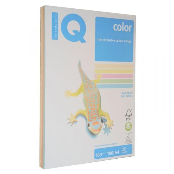 Hârtie colorată mix pale 80g,250 coli 0