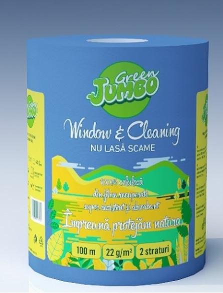 Monorola Green JUMBO Window & Cleaning 2 straturi, 100m 0