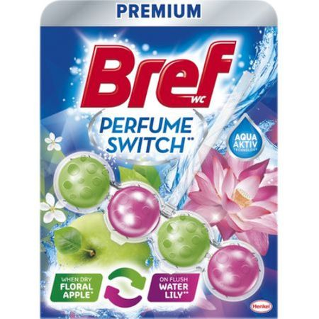 Odorizant toaletă Bref Perfume Switch Floral Apple&Water Lily, 50g 0