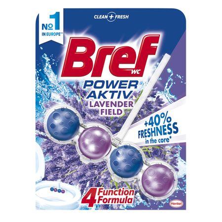 Odorizant toaletă Bref Power Aktiv Lavender Field 50 g 0