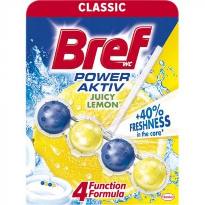 Odorizant toaletă Bref Power Aktiv Lemon 50 gr. [0]