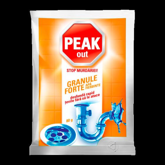 Granule pentru desfundat țevi apă fierbinte Peak Out, 80 gr 0
