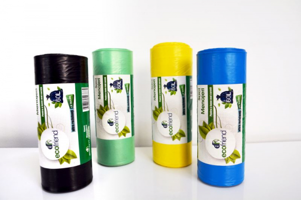 Saci menajeri ecologici Ecofriend 60 l, 15 buc. 0