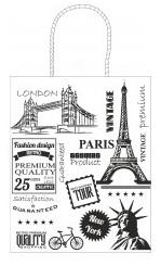 Pungă cadou model Travel- alb, 25x11x31 cm 0