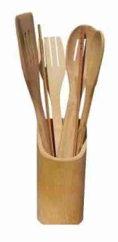Set ustensile bucătărie din bambus, 4 piese 0