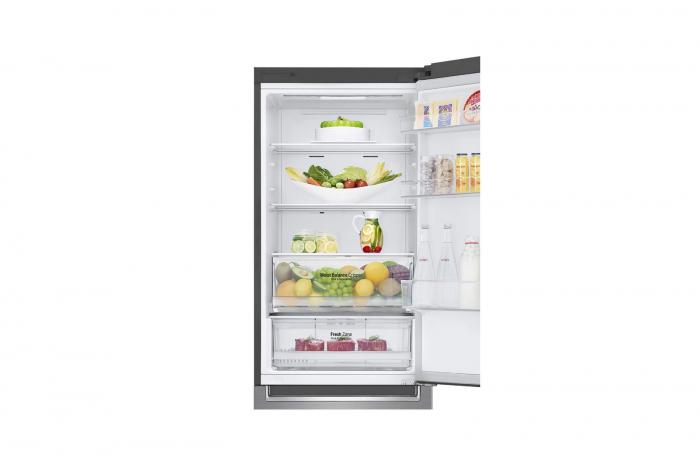 Combina frigorifica LG GBB61PZHZN, A++, 341 L, Total No Frost, Compresor Linear Inverter 6
