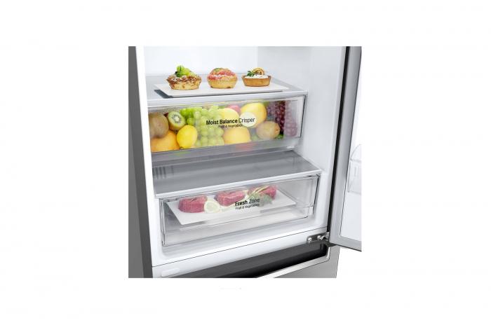 Combina frigorifica LG GBB61PZHZN, A++, 341 L, Total No Frost, Compresor Linear Inverter 3