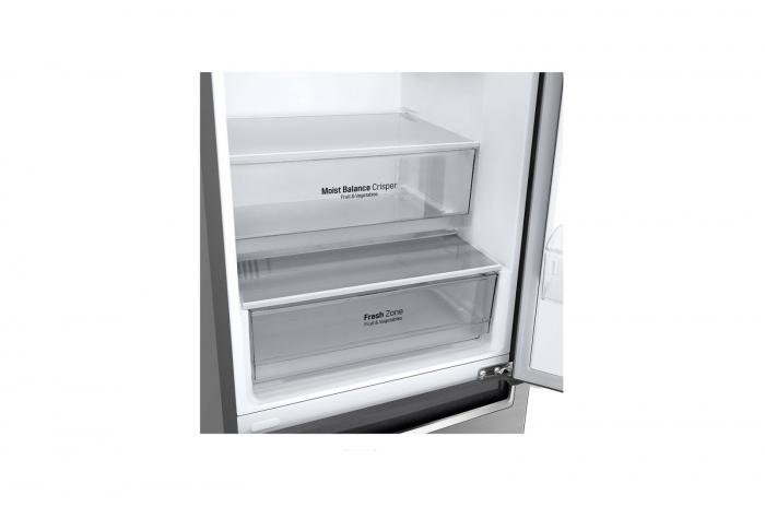 Combina frigorifica LG GBB61PZHZN, A++, 341 L, Total No Frost, Compresor Linear Inverter 4
