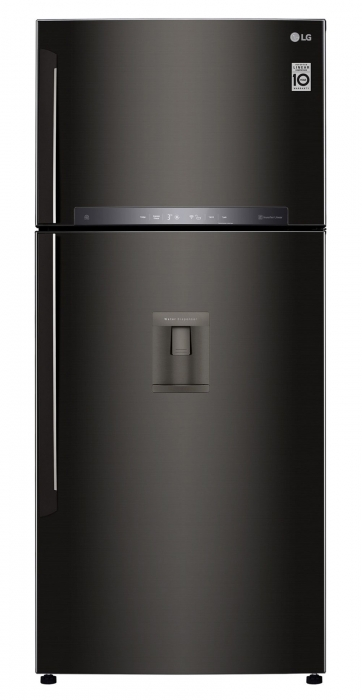 Frigider cu 2 usi LG GTF744BLPZD, 509 l, 180 cm, A++ 0