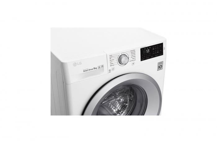 Mașină de spălat LG F4J5VN4W, 9Kg, 6 Motion DD, 10 ani garanție, Clasa A+++, NFC Smart ThinQ 5