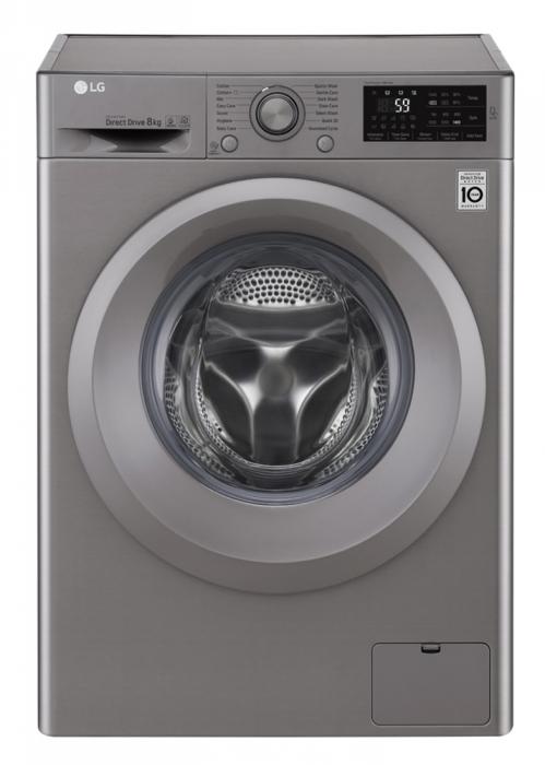 Masina de spalat rufe LG F4J5TN7S, Direct Drive, 8 kg, A+++, Argintiu 0