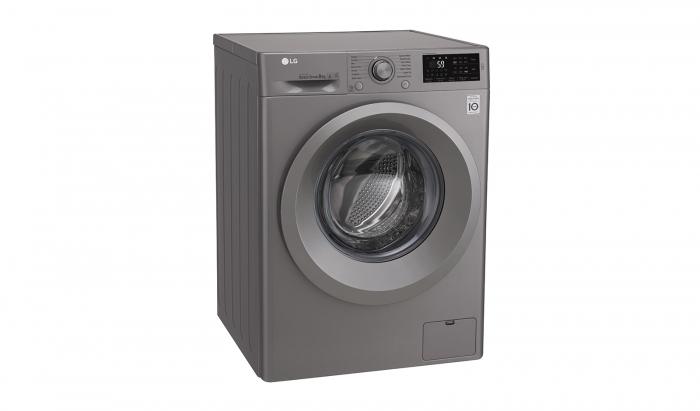 Masina de spalat rufe LG F4J5TN7S, Direct Drive, 8 kg, A+++, Argintiu 3