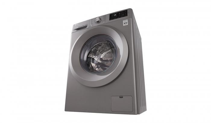 Masina de spalat rufe LG F4J5TN7S, Direct Drive, 8 kg, A+++, Argintiu 4
