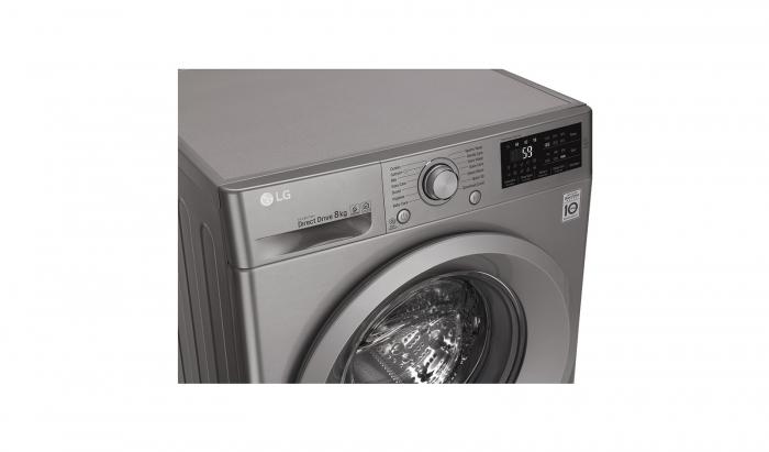Masina de spalat rufe LG F4J5TN7S, Direct Drive, 8 kg, A+++, Argintiu 7
