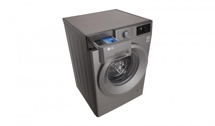 Masina de spalat rufe LG F4J5TN7S, Direct Drive, 8 kg, A+++, Argintiu 8