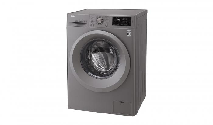 Masina de spalat rufe LG F4J5TN7S, Direct Drive, 8 kg, A+++, Argintiu 5