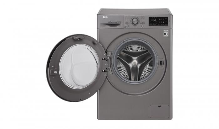 Masina de spalat rufe LG F4J5TN7S, Direct Drive, 8 kg, A+++, Argintiu 1